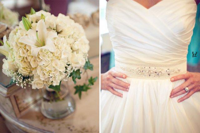 Moje retro svatba v krátkých šatech:-) - krásně řešený vršek..