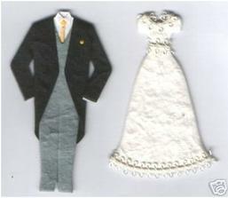 samolepky na jmenovky pro ženicha a nevěstu