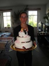 Autorka svatebního dortu - Kačenka :)