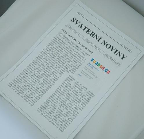 Petra{{_AND_}}Jan - Svatební noviny měly až neskutečný úspěch! Může všem nevěstám jen a jen doporučit.