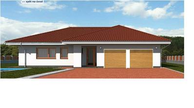 Takhle nějak budou garážová vrata, včetně odstínu. Střecha bude černá glazura, takže okna chceme světlá.