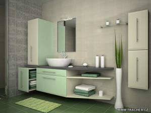 Podobné umývadlo i zkosená strana, snad se to do menší koupelny vleze..