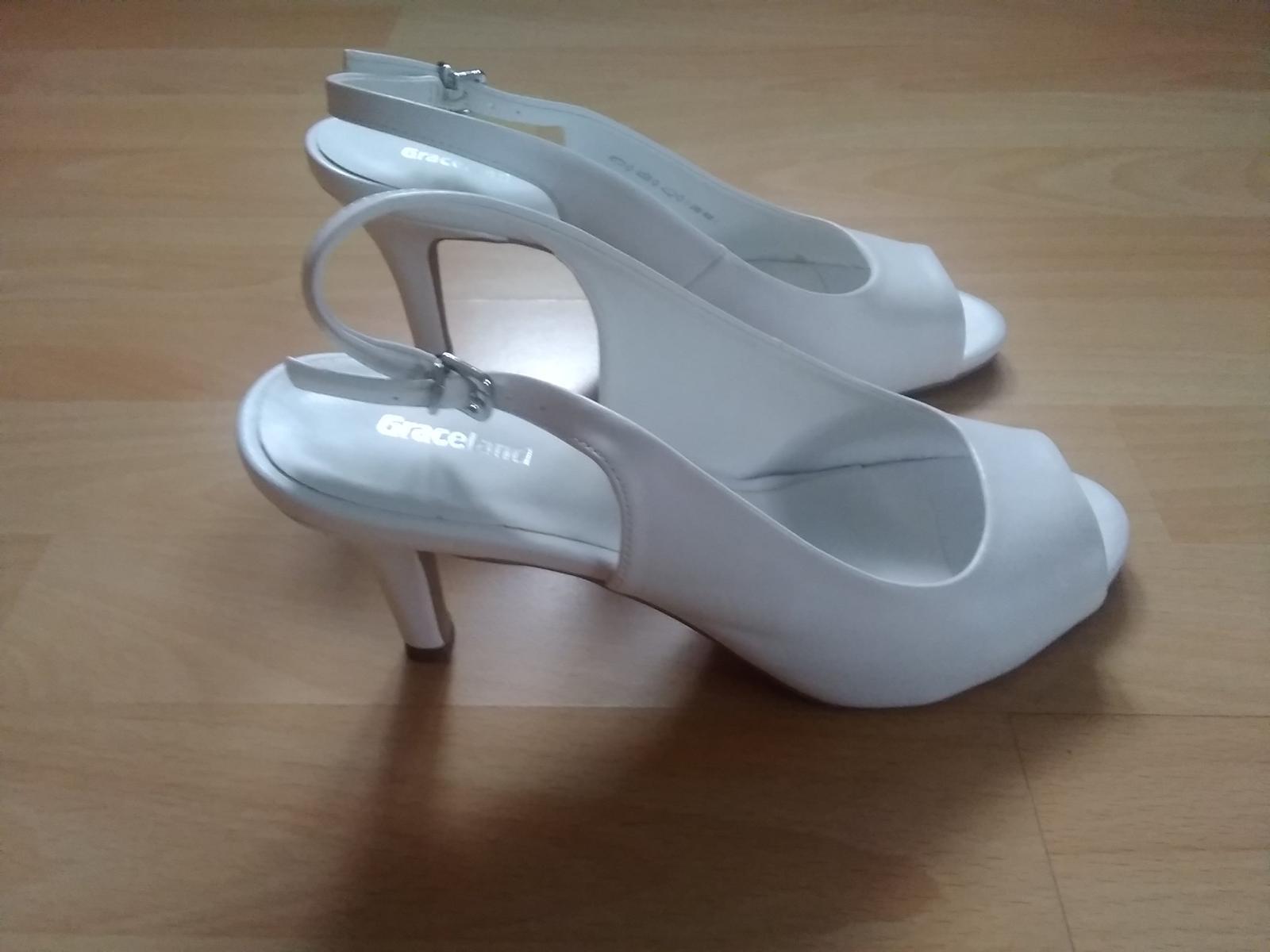 Bílé sandálky na podpatku - Obrázek č. 2