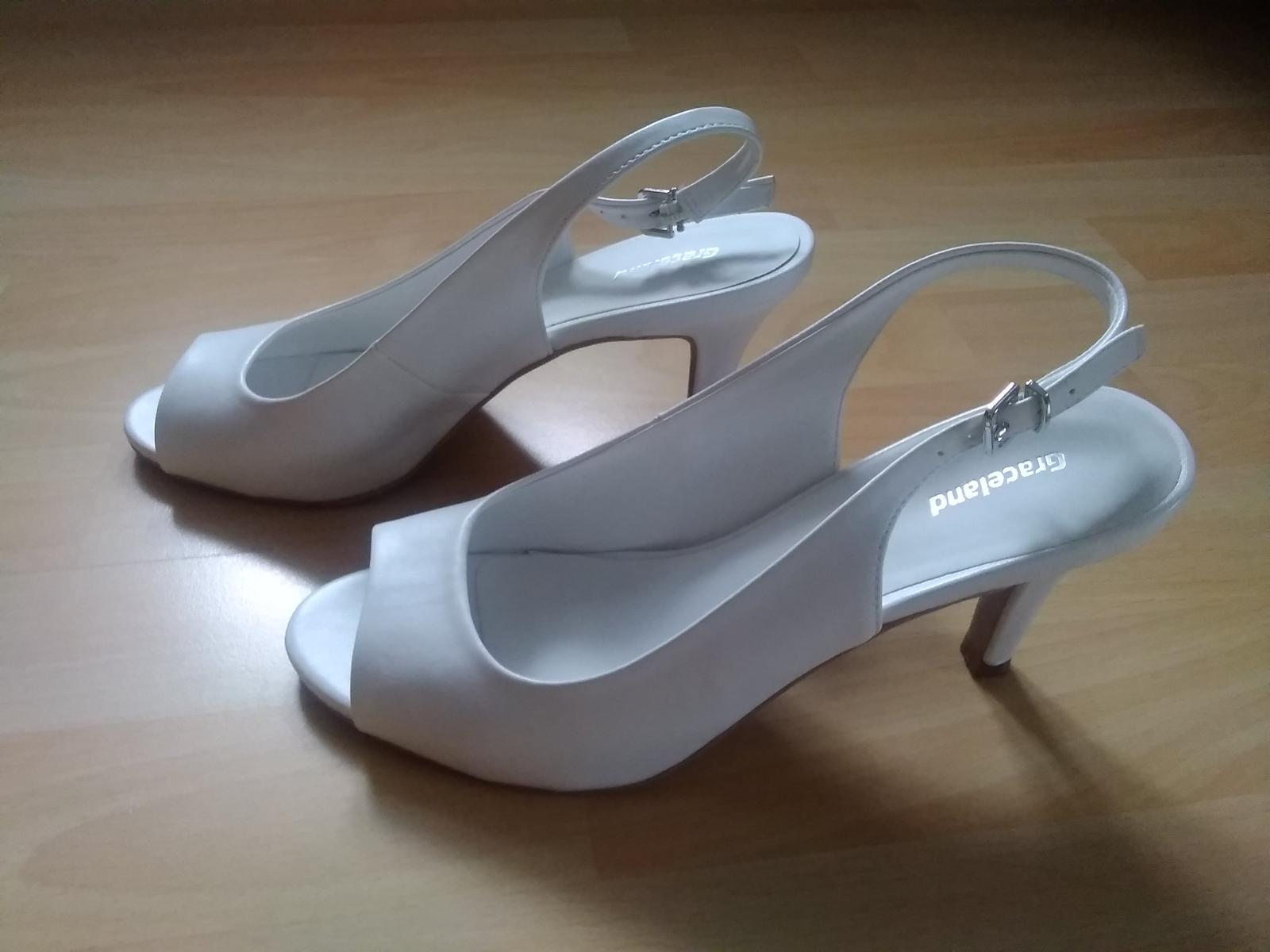 Bílé sandálky na podpatku - Obrázek č. 4