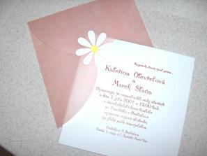 Naše svadobné oznámenie, už ich máme doma. Tieto sa budú posielať pozvaným hosťom, rodine a najbližším príbuzným.