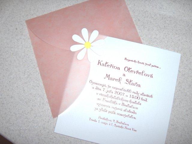 Predsvadobná príprava - Naše svadobné oznámenie, už ich máme doma. Tieto sa budú posielať pozvaným hosťom, rodine a najbližším príbuzným.