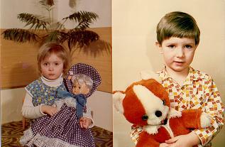 pokud to vyjde, bude oznameni obsahovat tyto nase fotky z detstvi ...