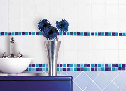 Kúpeľňa - inšpirácie - taketo jemne pouzitie mozaiky sa mi velmi paci - jednoduche, harmonicke...