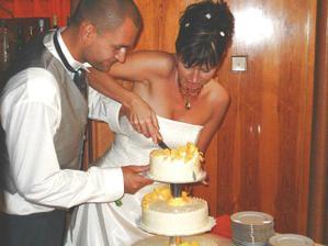 rozkrajování dortu