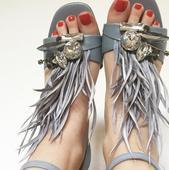 Pierkove sandale ZARA Basic, 38