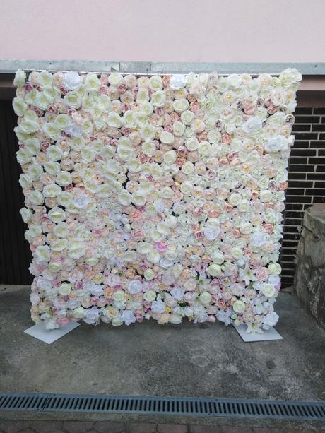 Príprava 🌸🌸🌸 - Zajednana kvetinova stena:)