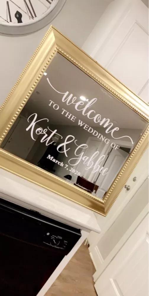 Príprava 🌸🌸🌸 - Uvítacía tabuľa .. kúpila som zrkadlo kde nalepim popis