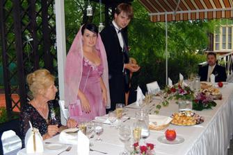 Zahradní oslava v hotelu Santander