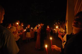 Tanec při světle svíček...