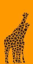 návrh vytvořený v počítači .... použila jsem normální žirafy, a vytvořila to v grafickém programu
