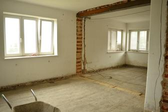 Naše srdce domova - obývák a jídelna ... místo okna vlevo budou posuvné dveře na terasu