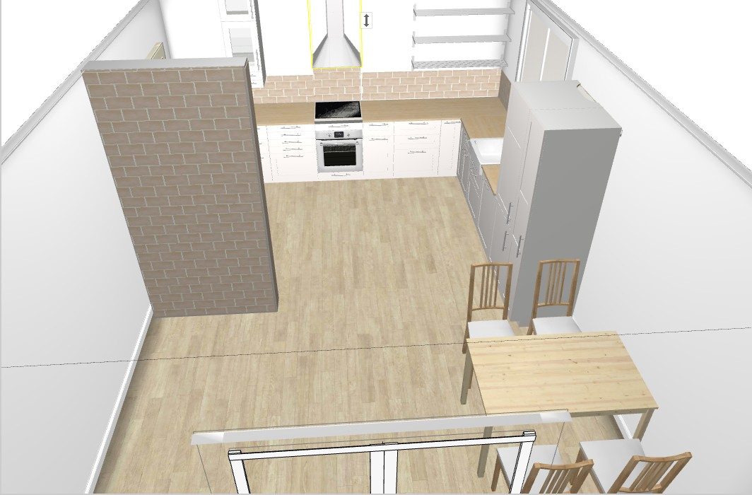 Náš nový domov ... - Řeším obklady - nechat světlé nebo tmavé? a když světlé/tmavé tak jakou digestoř? Líbí se mi ta tmavá cihla (viz druhý obrázek) ale jak vidím nějakou bílou kuchyň, tak zas jsem na pochybách ... :/
