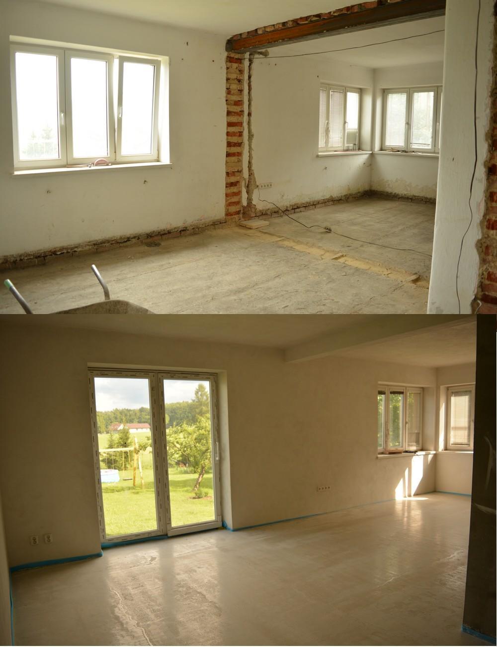 Náš nový domov ... - Ty zbourane zdi nahore nejsou puvodni stav .. stav uplne pred mam spatne zachycen :D