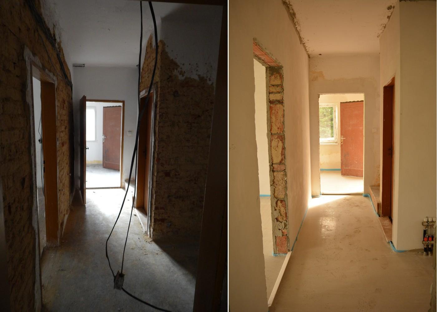 Náš nový domov ... - chodbička ... podlaha je skoro stejná, ale chvíli tam nebyla :D ..