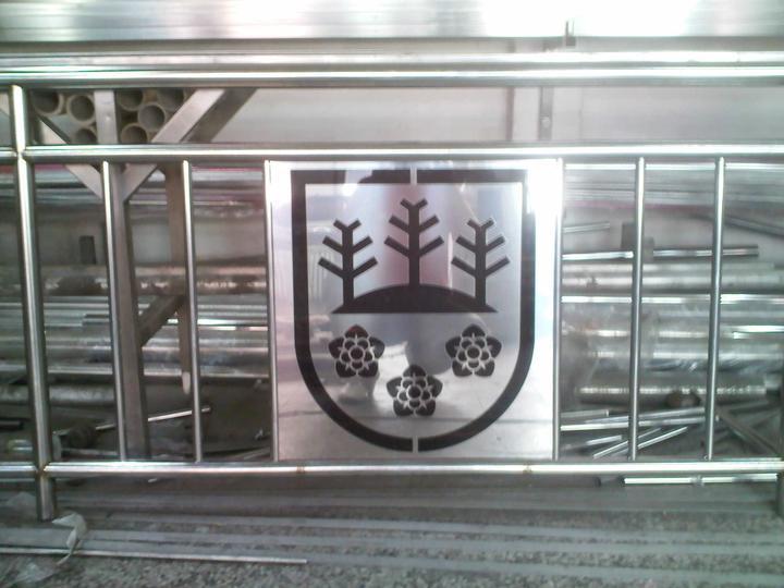 Inšpirácie - antikorové zábradlia - logo mesta TURZOVKA