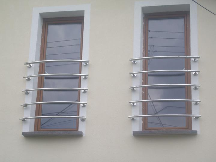 Inšpirácie - antikorové zábradlia - francúzske okná vypuklé