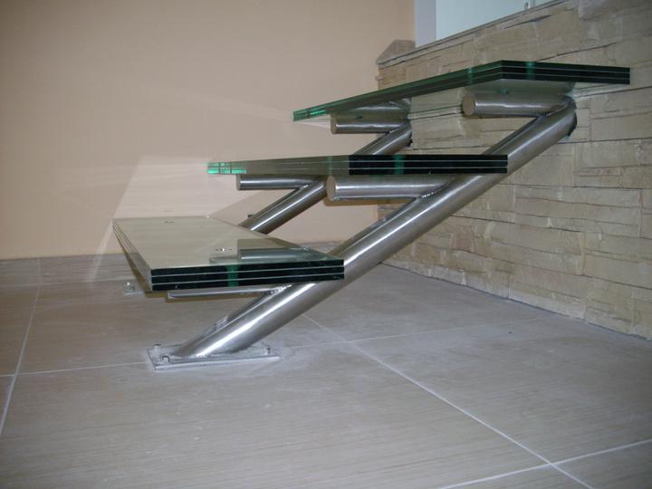 Inšpirácie - antikorové zábradlia - schodisko