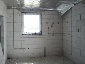 Tu bude kuchynská linka a malá komora..