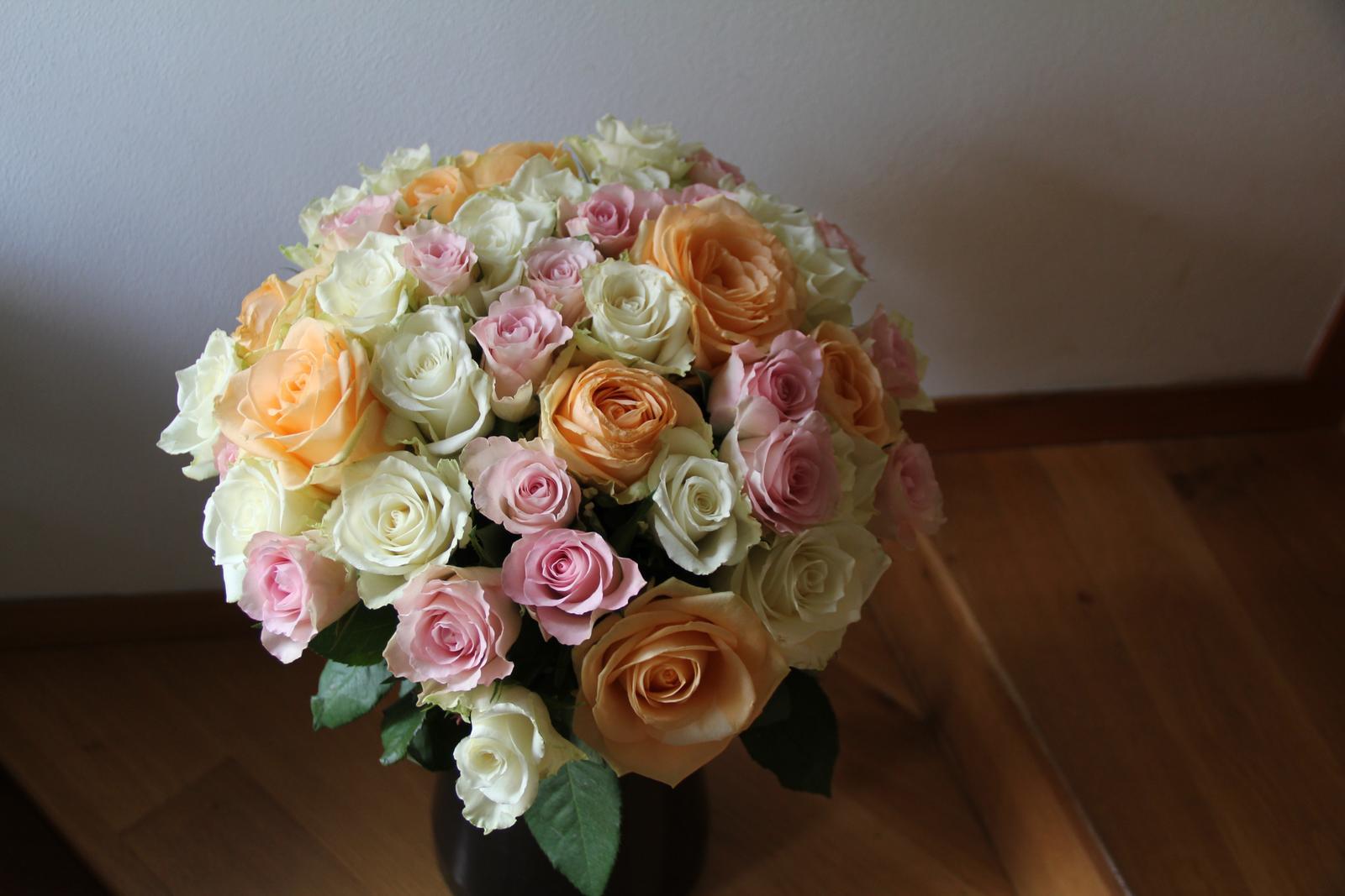U nás a moje dekorace - Moje oblíbené růžičky
