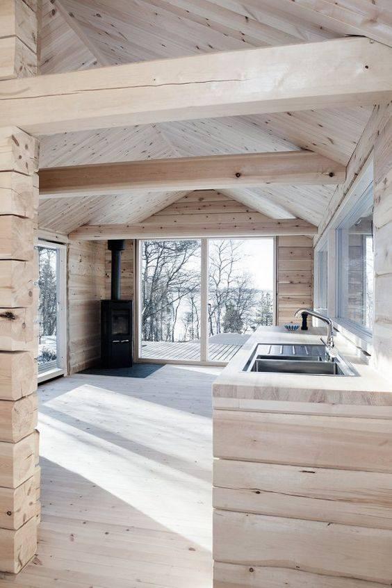 Bude malinký domeček - V inteiréru domečku bude všude moje oblíbené dřevo a přizaný šikmý strop.