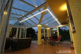 Projekt LED osvetlenia zimnej záhrady