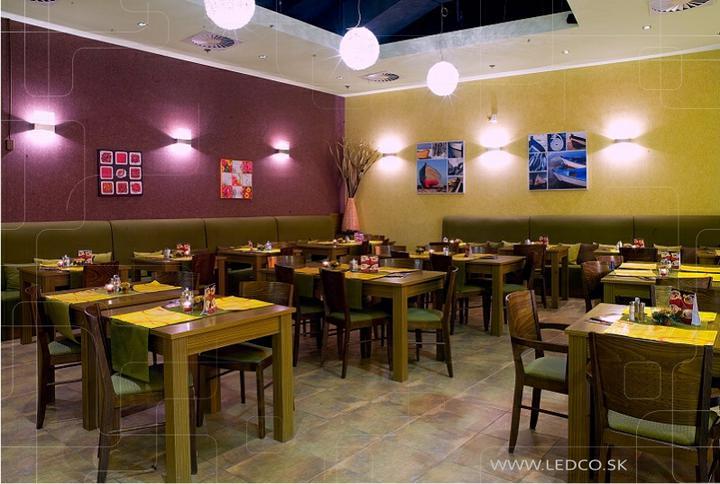ledco - LED osvetlenie reštaurácie Tantal v Nitre