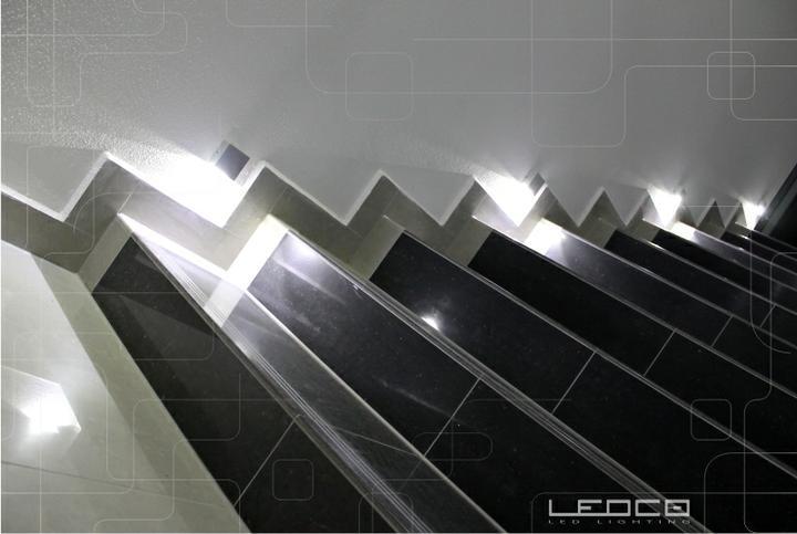 ledco - Dizajnové nasvietenie schodiska LED svietidlami