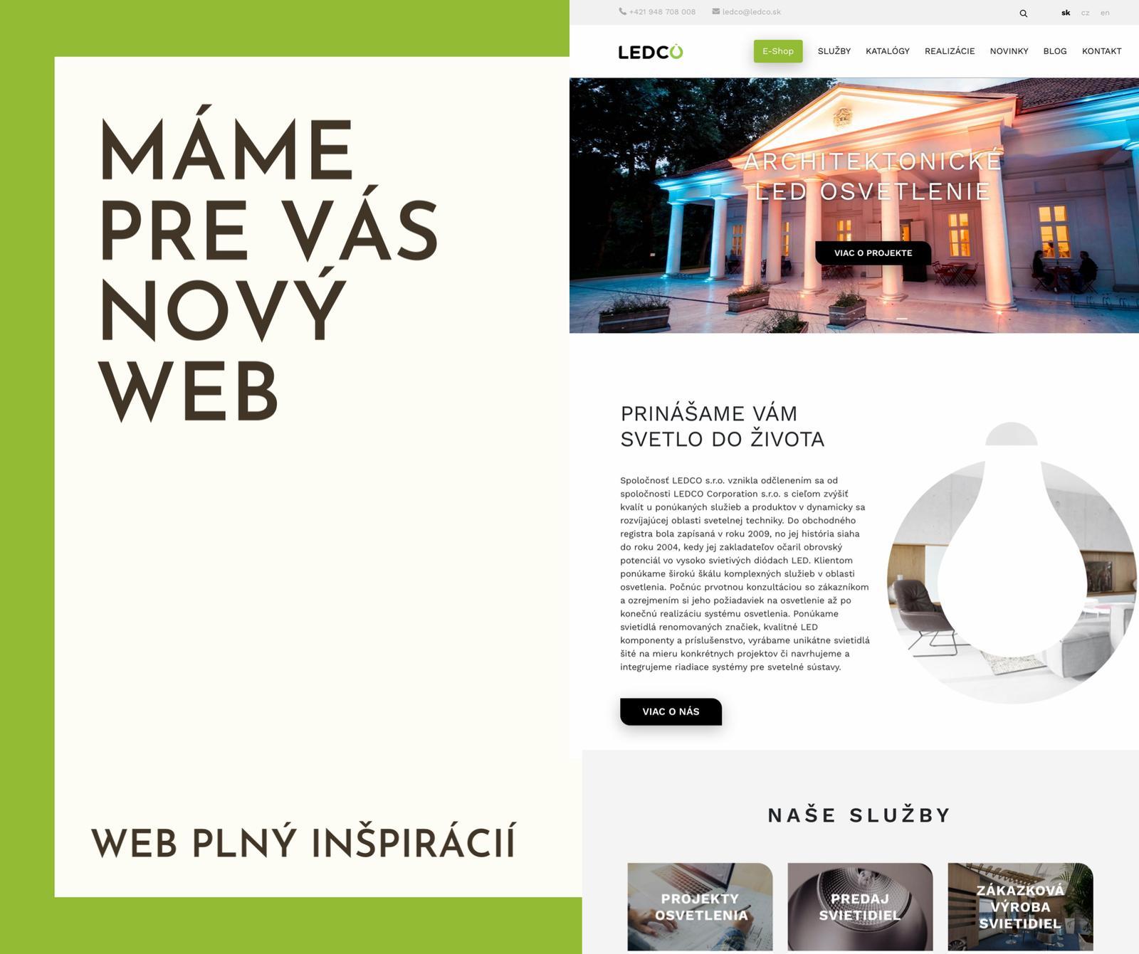 Nový web plný svetelných inšpirácií - Obrázok č. 1