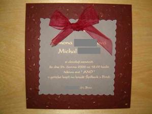 Nase hotove svatebni oznameni :-)