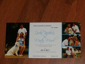 Svatební oznámení, jak jsem slíbila, že dodám