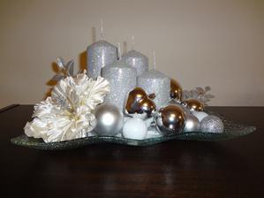 Práve dokončené... tento rok budú u nás Vianoce v striebornom :)
