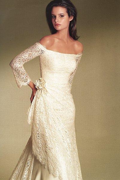 Plány a skutočnosť - Jedna z mnohých verzií mojich prvotných predstáv o svadobných šatách.