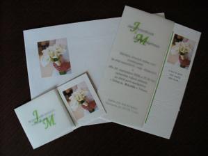 Detail oznamenia, pozvanky a obalky