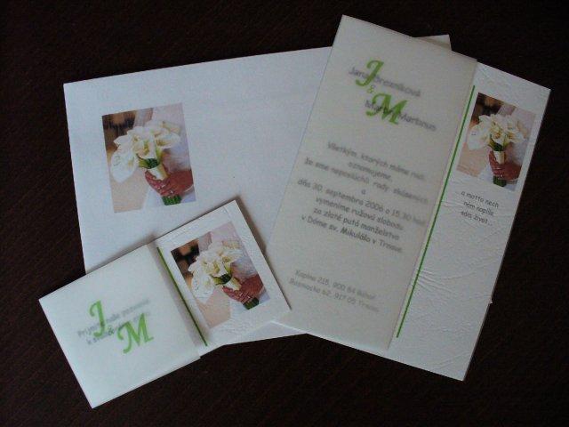 Jana a Martin - Detail oznamenia, pozvanky a obalky