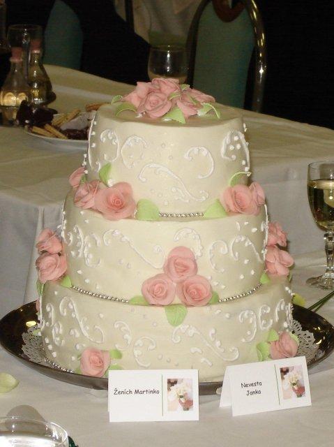 Jana a Martin - pokracovanie - Hlavna svadobna torta...