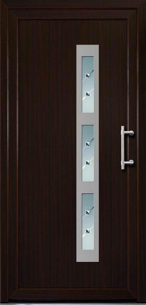 Náš domček - Vchodové dvere - objednané vo farbe mahagón, rovnako ako okná