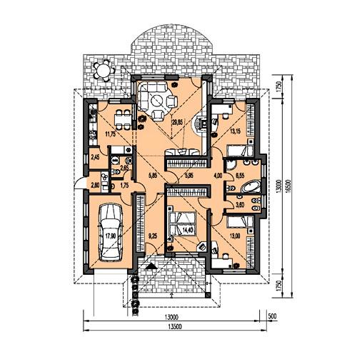 Náš domček - takto to malo vyzerať pôvodne, my máme menšie úpravy