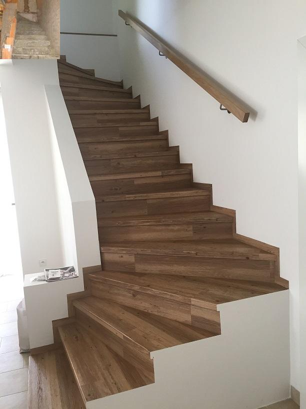 Dům už máme postavený, teď z něho děláme DOMOV - schodiště - rok 2011 a 2015