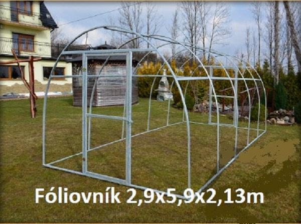 Fóliovniky - Konštrukcia 2,9x5,9x2,13m v cene 369eur s dovozom a montážou.