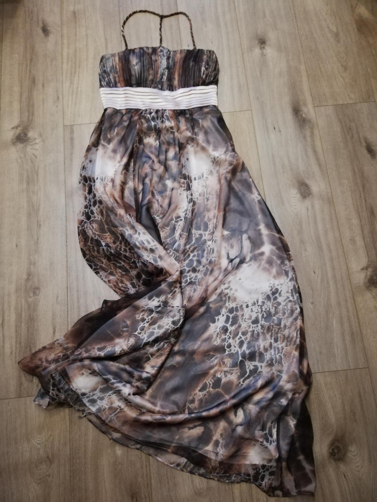 Spoločenské šaty so zvieracím motívom  - Obrázok č. 3