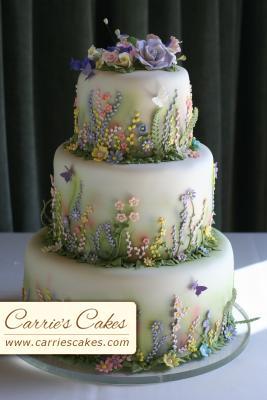 Predbezne fotecky - Jarna svadobna torta