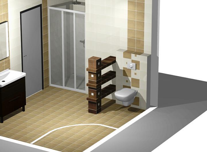 Nas domcek-upraveny bungalov 881 Euroline - návrh kúpelne