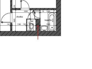 Pôvodný stav WC, kúpeľne a malej chodbyčky, ktoré sú miniatúrne, ale spojením môže vzniknúť krásna WCkúpeľňa :o)