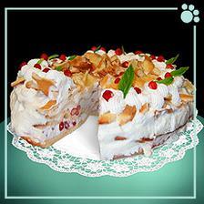 Sezónní dort z odpalovaného těsta, s čerstvými lesními jahodami a šlehačkou. Tady ze Zlina: http://www.umlsnekocky.cz/dorty.htm.