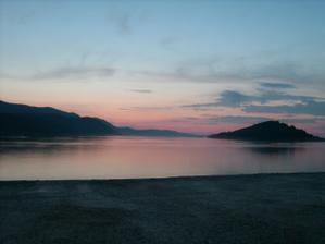 Západ slunce z pobreží na Dugi Otok, Luka.